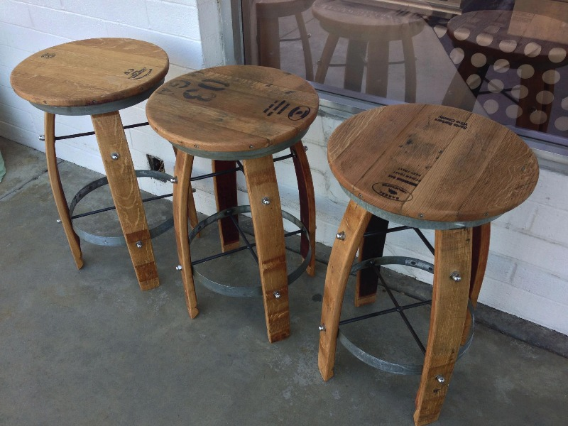 Wine Barrel Bar Stools Trendy Wine Barrel Bar Stools With